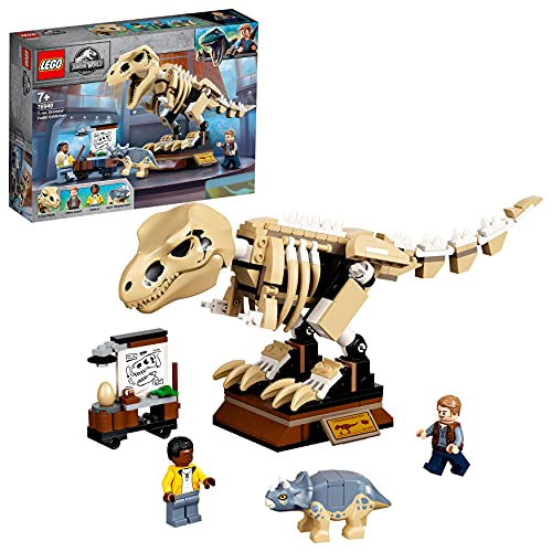 LEGO 76940 Jurassic World T. Rex-Skelett in der Fossilienausstellung, Spielzeugset für Kinder ab 7...