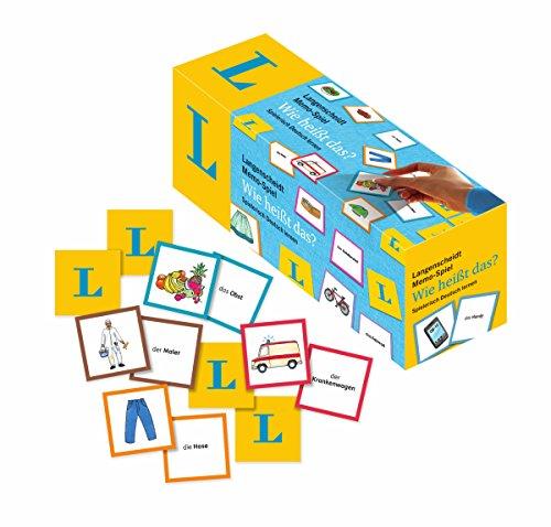 Langenscheidt Memo-Spiel 'Wie heißt das?' - Memo-Spiel in einer Box mit 200 Karten und Spielanleitung:...