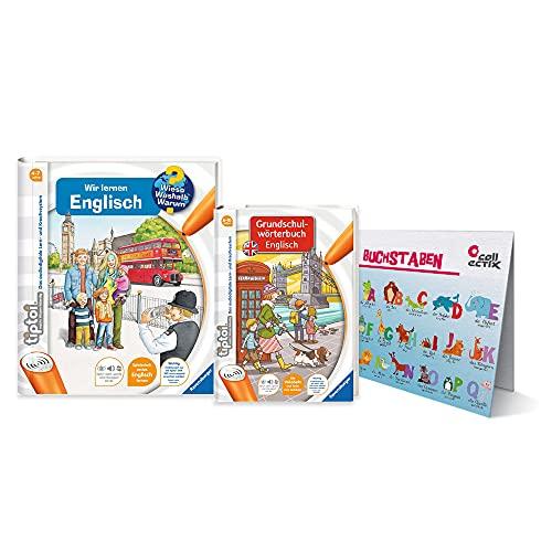 Ravensburger tiptoi ® Bücher Starterset | Wir Lernen Englisch Buch + Grundschulwörterbuch + Kinder...