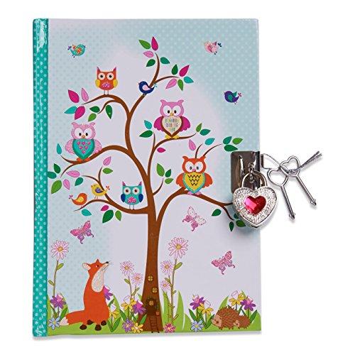 """Lucy Locket """"Waldtiere"""" Tagebuch mit Schloss für Kinder (Verschliessbares Tagebuch mit Schloss und..."""