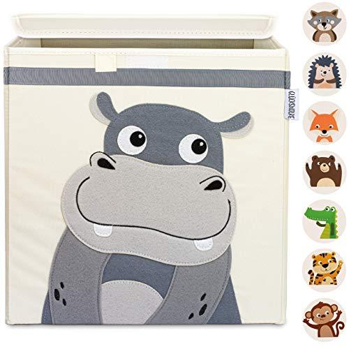 GLÜCKSWOLKE Aufbewahrungsbox Kinder - 10 Motive I Spielzeugkiste mit Deckel für Kinderzimmer I...