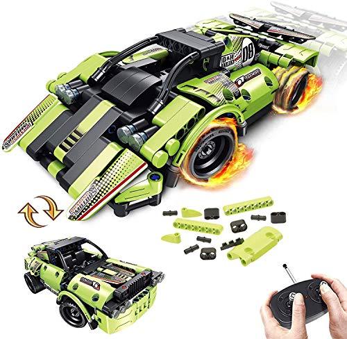 LUKAT STEM Ferngesteuertes Auto Bausteine Spielzeug für Kinder 2-in-1-Technik Ferngesteuert...