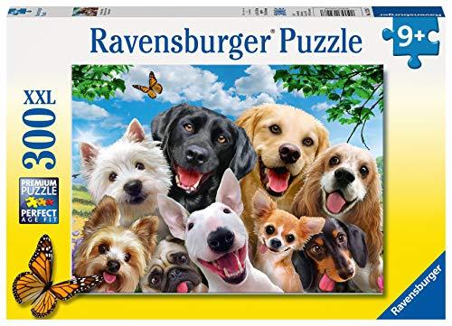 Ravensburger Kinderpuzzle - 13228 Delighted Dogs - Hunde-Puzzle für Kinder ab 9 Jahren, mit 300 Teilen...