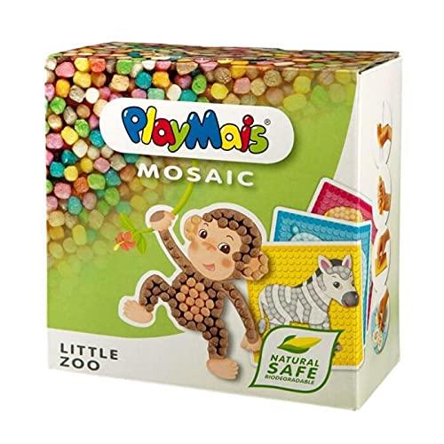 PlayMais Mosaic Little Zoo Kreativ-Set zum Basteln für Kinder ab 3 Jahren | Über 2.300 Stück & 6...