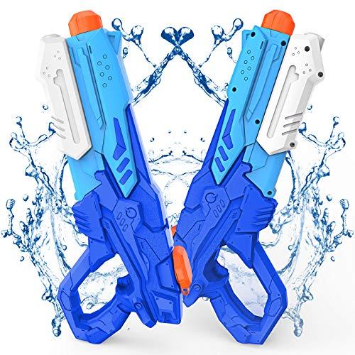 Wasserpistole Spielzeug für Kinder und Erwachsene 2 Stücks 600 ML Wasserpistolen mit 8-10 m...