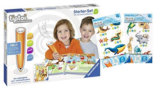 tiptoi Ravensburger 00806 - Starter-Set: Stift und Wörter-Bilderbuch + 2 x Create Sticker (Verschiedene...