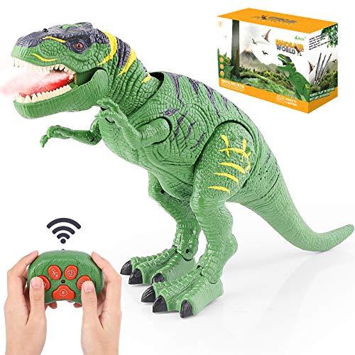 BAZOVE Leuchtend Ferngesteuert Dinosaurier Spielzeug, RC Dinosaurier Elektrospielzeug mit LED Leuchten...