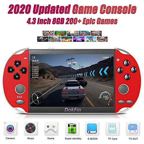 DokFin Handheld Spielkonsole, Retro Tragbare Spiele Konsolen Mit 4,3/5,1-Zoll LCD-Bildschirm, Über 200...