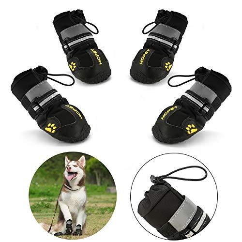 Pfotenschutz für Hunde, Hundeschuhe Pfotenschutz wasserdicht mit abriebfester, Innen Robustes...