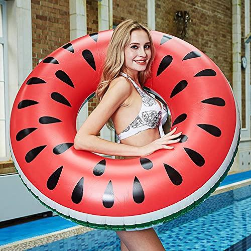 GUBOOM Schwimmring Erwachsene, Schwimmring Melone Aufblasbarer Schwimmring 120cm Großes Sommer Wasser...