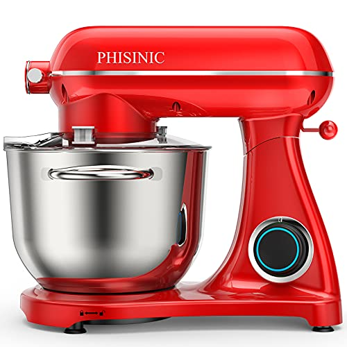 PHISINIC Küchenmaschine Knetmaschine (1800 W) leistungsstark, leise und multifunktional, Metallgehäuse...