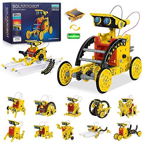 HOMOFY Roboter Kinder Solarroboter Kit 12 in-1-Sets Wissenschaft Lernwissenschaftliches Bauspielzeug von...