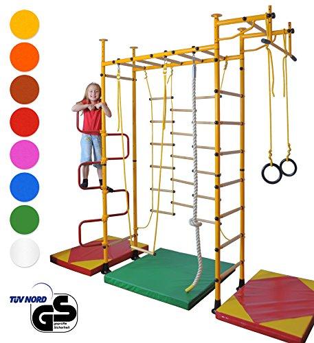 NiroSport FitTop M3 Sprossenwand für Kinder Indoor Klettergerüst für Kinderzimmer Kletterwand, TÜV...