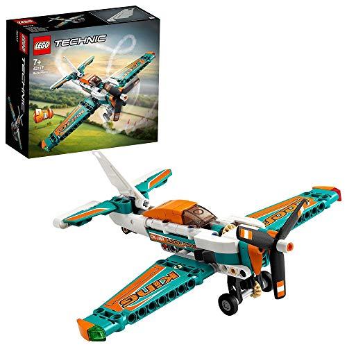 LEGO 42117 Technic Rennflugzeug oder Jetflugzeug 2-in-1 Spielzeug, Bauset für 7-jährige Kinder