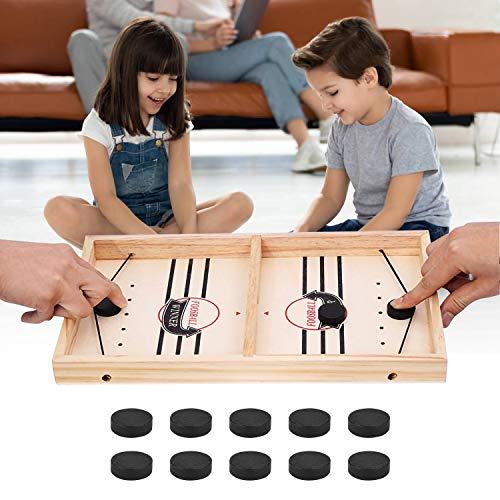 Schnelles Sling Puck Spiel, Brettspiel Hockey, Airhockey Tisch, Holzspiele, Shuffleboard, Klask Spiel,...