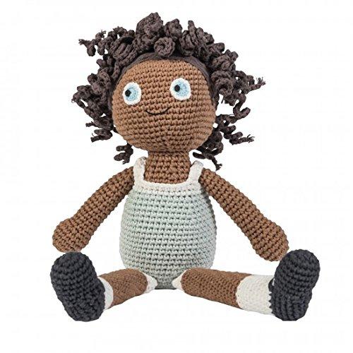 Sebra - Häkel-Puppe - Lilly - Baumwolle - von Hand gefertigt - Höhe 40 cm