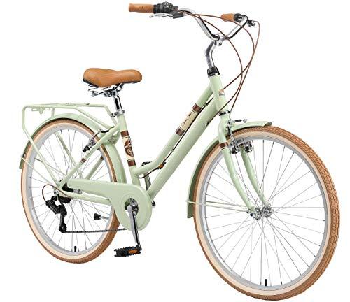 BIKESTAR Alu City Stadt Fahrrad 26 Zoll | 16 Zoll Rahmen, 7 Gang Shimano Damen Rad, Hollandrad Retro Bike...