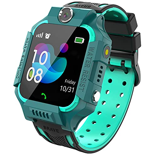 PTHTECHUS Kinder Spiel Smartwatch Telefon, Kind Armbanduhr Touchscreen Uhr mit Anruf Taschenrechner...