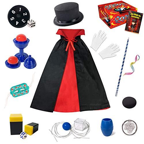 Heyzeibo Kinder Zauberkasten - Anfänger Kinder Zaubertricks Set mit Zauberstab, Zylinder, Kostüm &...