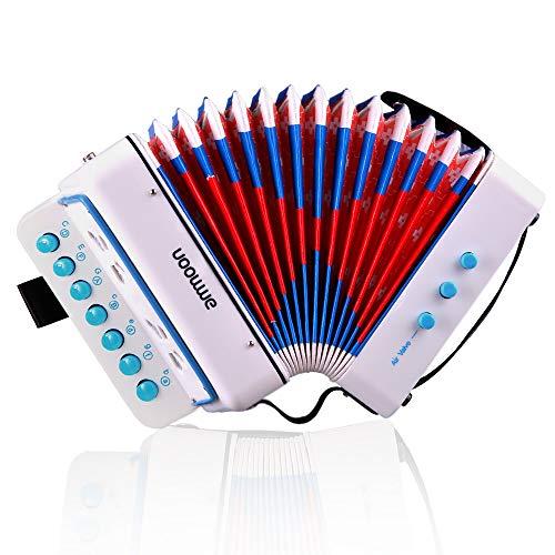 Akkordeon,ammoon Ziehharmonika Solo Mini 10 Tasten Kinder Akkordeon Spielzeug Tasteninstrument Harmonika...