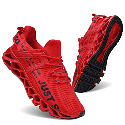 Vivay Damen Laufschuhe Walking Athletic für Frauen Casual Slip Fashion Sports Outdoor-Schuhe, Rot , 41...