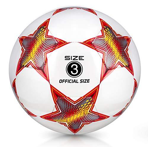 YANYODO Fußball Trainingsfußball Größe 3, 4, 5 für Kind/Jugend/Erwachsener, Outdoor/Indoor-Spiel...