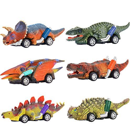 Dreamingbox Spielzeug für Jungen 2-8 Jahre, Dinosaurier Auto Spielzeug Geschenk Junge 2-8 Jahre Kinder...
