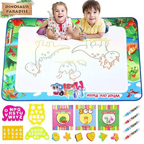Gxi Wasser Doodle Matte für Kinder Aqua Magic Doodle Malmatte Groß 120x80cm Wasser Zeichnen Matte Mit...