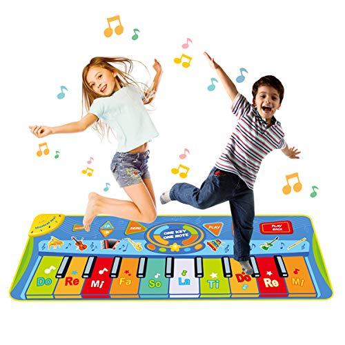 Funkprofi Piano Matte für Kinder, Tanzmatten Musikmatte Klaviermatte Keyboard Matten 10 Klaviertasten 8...