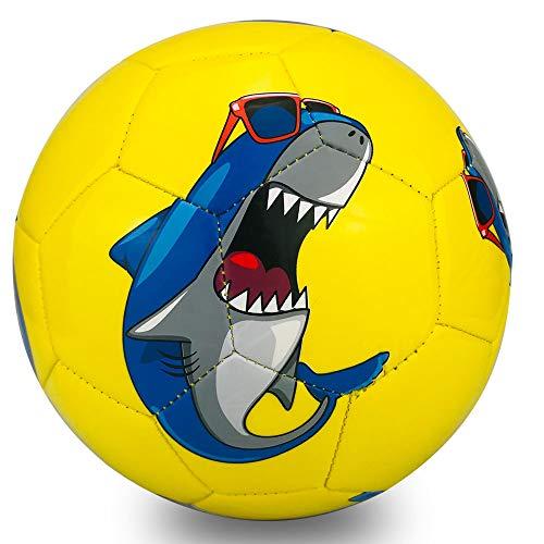 Champhox Kinder Fußball Ball mit Pumpe, Kinder-Sportball, Cartoon-Design, Kleinkinder, Freizeitball für...