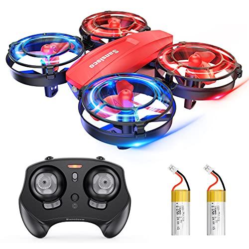 Mini Drohne für Kinder, RC Quadrocopter ferngesteuert mit LED Licht, Kampfdrohne, 360° Propellerschutz,...