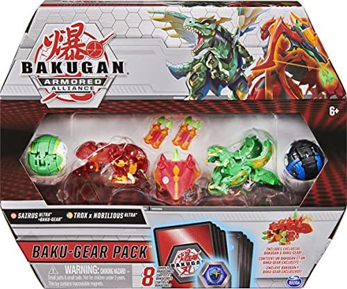 Bakugan Baku-Gear Pack mit 4 Armored Alliance Bakugan ( 2 Ultra und 2 Basic Balls) und 1 Set Baku-Gear...