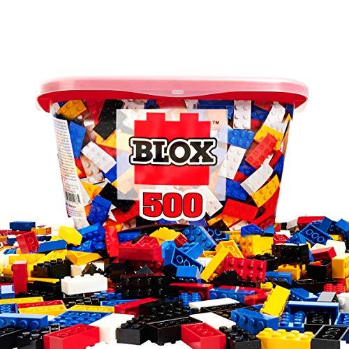 Simba 104114201 - Blox 500 Bausteine für Kinder ab 4 Jahren, 8er Steinebox, ohne Grundplatte,...