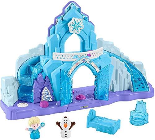 Little People GGV29 Fisher-Price Disney Frozen Elsas Eispalast, Musikalisches beleuchtetes Spielset,...