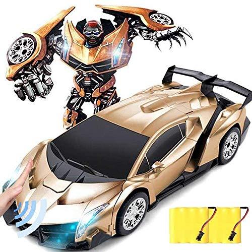 Zixin Kinder Fernbedienung Deformation Auto for Kinder, RC Roboter-Auto-Spielzeug-2 in 1 Deformation RC...