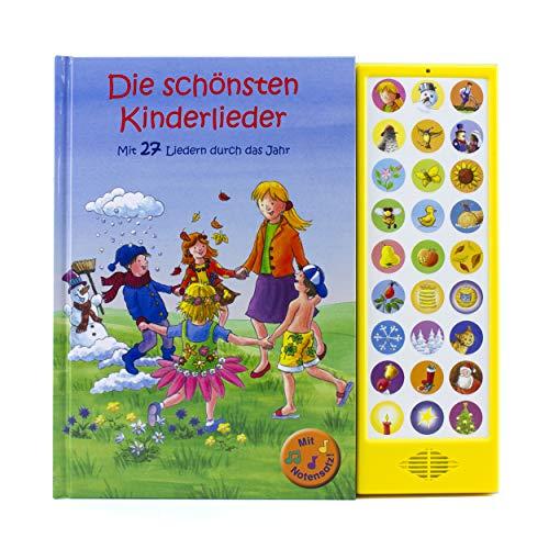 27-Button Soundbuch - Die schönsten Kinderlieder zum Mitsingen - Mit 27 Liedern durch das Jahr...