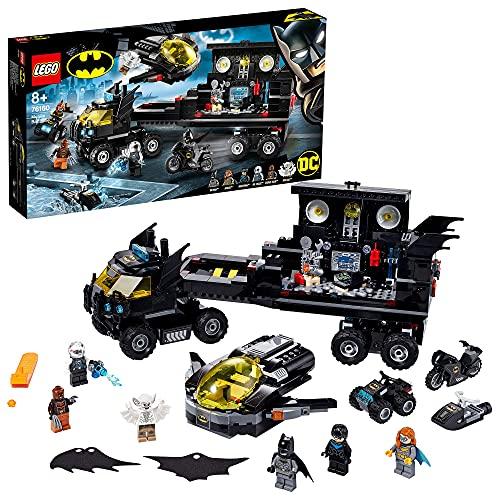 LEGO 76160 Super Heroes DC Batman Mobile Batbasis, Truck Spielzeug mit Batjet, Batquad, Motorrad und...