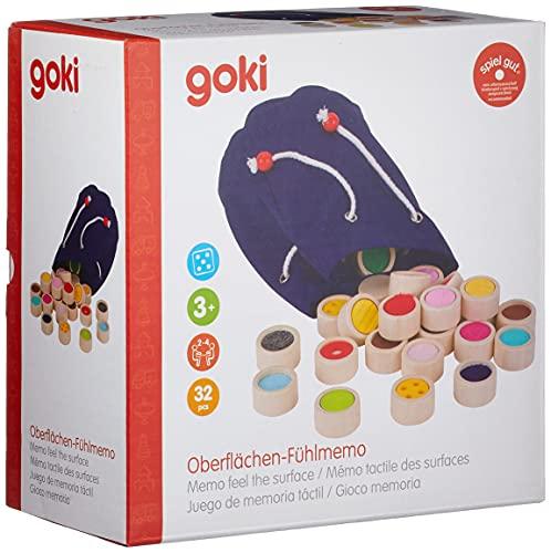 goki 59004 Oberflächen-Fühlmemo im Baumwollbeutel