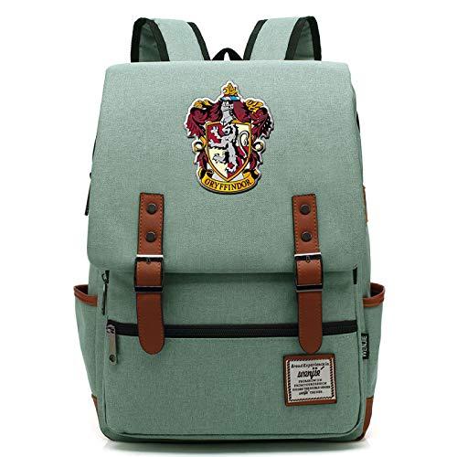 Harry Potter Rucksack für Mädchen Jungen Leichte Büchertasche 7~15 Grade Student Pack Gryffindor Green