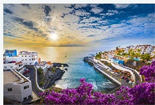 Erwachsenenpuzzles 1000 Teile Sonnenaufgang In Der Kanarischen Insel Spanien Stadt Teneriffas Puerto De...