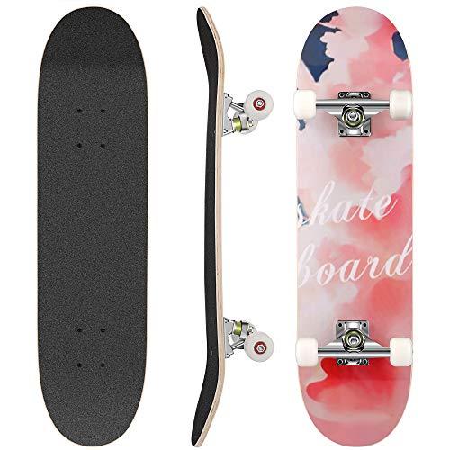 WeSkate Skateboard Komplett Board 79x20cm Holzboard ABEC-7 Kugellager 31 Zoll 7-lagigem Ahornholz, 92A...
