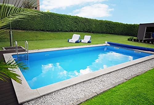 well2wellness® Schwimmbecken/Styroporbecken - Ocean Brick Poolsystem Set 74975' für Beckengröße: 8,0...