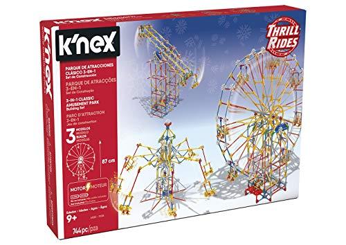 K'Nex Thrill Rides 3in1 Laufstall Attraktivitäten: Noria + Fliegende Stühle + Pendel Bausatz mit Motor...