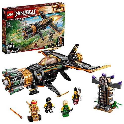 LEGO 71736 NINJAGO Coles Felsenbrecher Flugzeugspielzeug mit Gefängnis und sammelbarer Figur des...