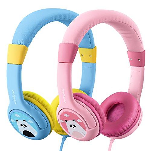2 Stück: Blau & Rosa - Mpow Kopfhörer Kinder, Kopfhörer für Kinder mit 85dB Lautstärke Begrenzung...