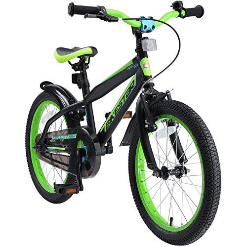BIKESTAR Kinderfahrrad 18 Zoll für Mädchen und Jungen ab 5 Jahre   Kinderrad Urban Jungle   Fahrrad...