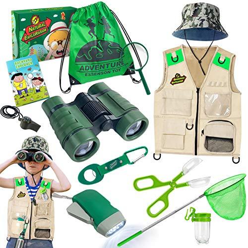 Draussen Forscherset & Bug Catcher Kit mit Kinder Weste, Fernglas, Lupe, Schmetterlingsnetz, Hut und...