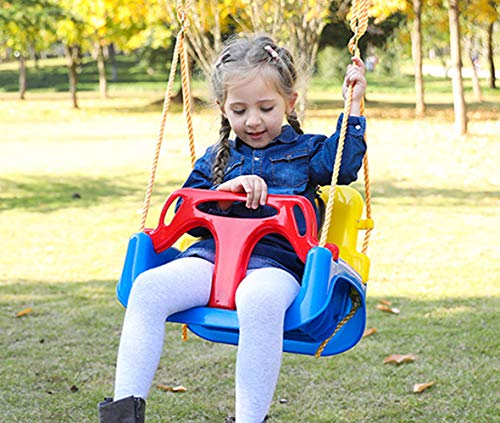 Huike Kinderschaukel Babyschaukel 3 in 1 Babysitz verstellbar Schaukelsitz Gartenschaukel für Baby und...