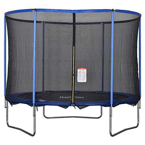 HOMCOM Trampolin mit Sicherheitsnetz Gartentrampolin für Innen- und Außenbereich Fitnesstrampolin für...