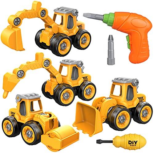Yojoloin Bagger Spielzeug Sandspielzeug Sandkasten Spielzeug für Kinder Jungen Mädchen,Spielzeug ab 3 4...
